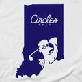 Indiana State Circles Golf Logo - Long Sleeve T-Shirt
