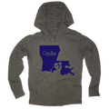 Louisiana State Silhouette Circles Golf Logo - Thin Long Sleeve Hoodie
