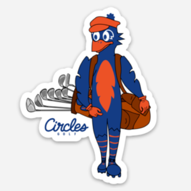 Sticker - Chirps Carrying Golf Bag