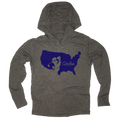 USA Silhouette Circles Golf Logo - Thin Long Sleeve Hoodie