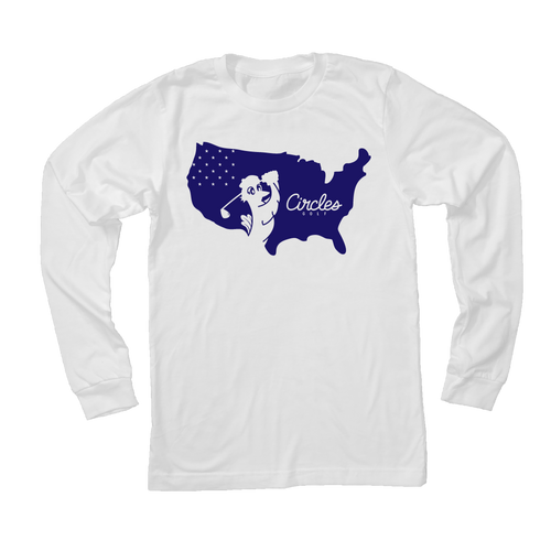 USA Circles Golf Logo - Long Sleeve T-Shirt