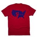 USA Chirps Silhouette Golf T-Shirt