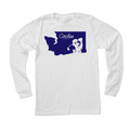 Washington State Circles Golf Logo - Long Sleeve T-Shirt