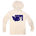 Washington State Silhouette Circles Golf Logo - Thin Long Sleeve Hoodie