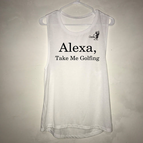 Alexa Take Me Golfing Women's Oversized Golf Tank Top