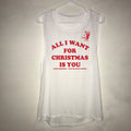 All I Want For Christmas Is You - Just Kidding Get Me Golf Stuff - Women's Oversized Tank Top