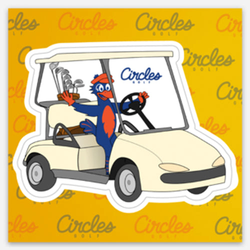 Sticker - Chirps in Golf Cart