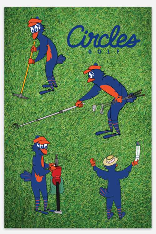 Sticker Sheet - 5 Chirps Golf Stickers