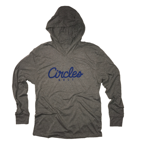 Circles Golf Text Logo Thin Hoodie