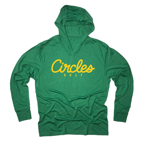Circles Golf Green Hooded Sweatshirt
