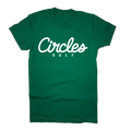 Circles Golf Text Logo Green T-Shirt