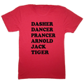 Dasher Dancer Prancer Arnold Jack Tiger Christmas Golf T-Shirt