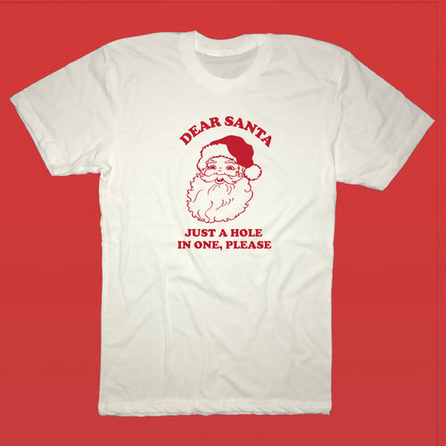 Dear Santa Just A Hole In One Please - Golf T-Shirt