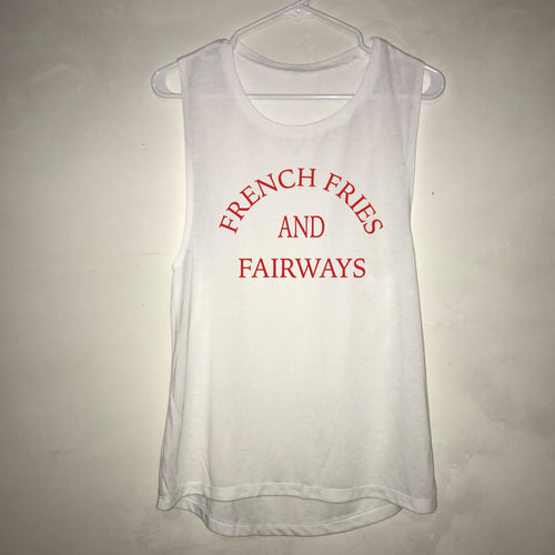 French Fries And Fairways Women's Oversized Golf Tank Top