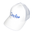 White Circles Golf - All White Mesh Text Logo Hat