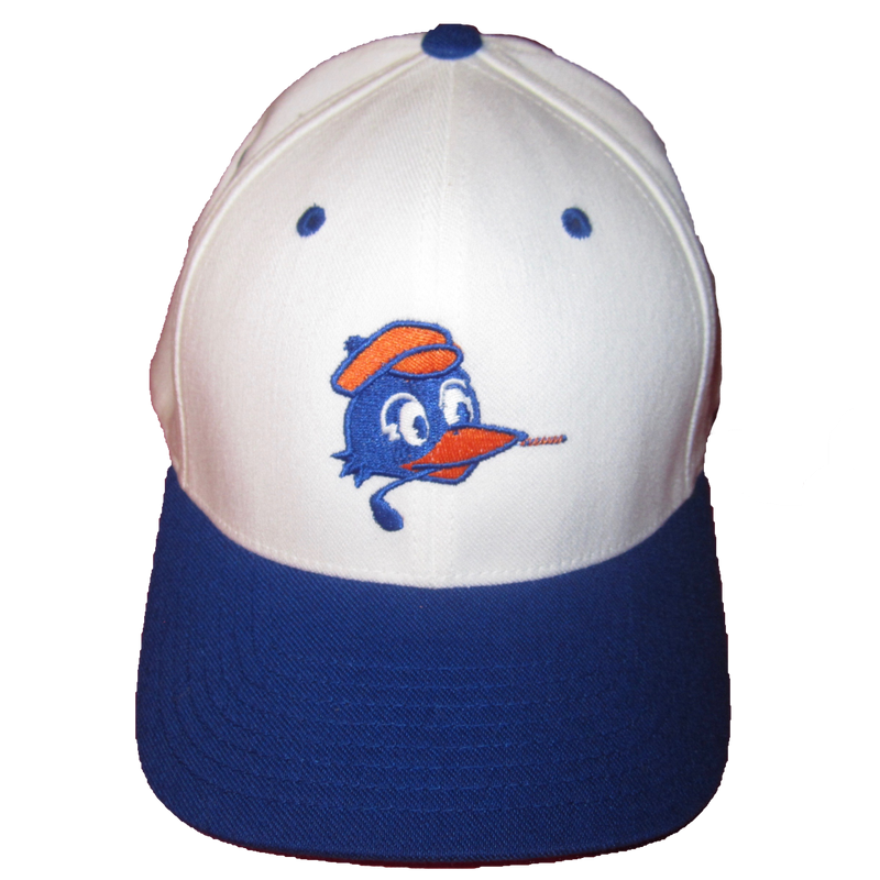 Blue Brim on White Chirps Logo Hat