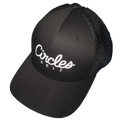 Circles Golf - All Black Mesh Text Logo Hat