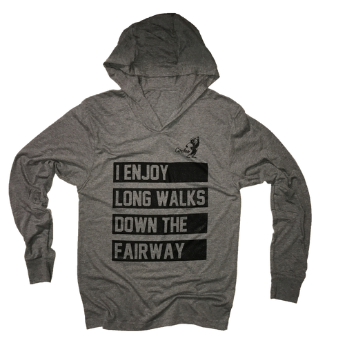 I Enjoy Long Walks Down The Fairway Thin Hoodie
