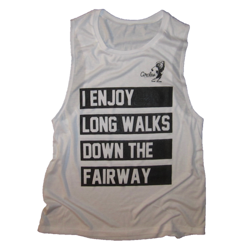 I Enjoy Long Walks Down The Fairway Women's Oversized Tank Top