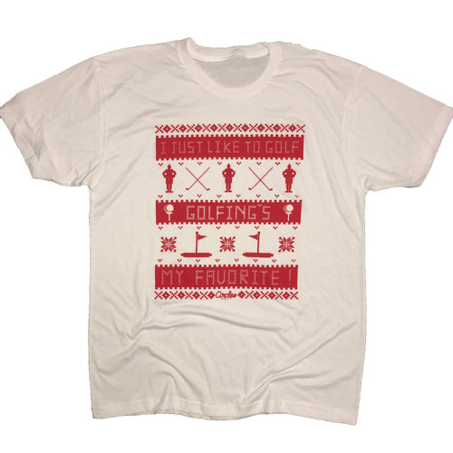 I Just Like To Golf - Golfings My Favorite Christmas T-Shirt