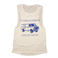 If I Ever Go Missing Look For This Van Women's Oversized Tank Top