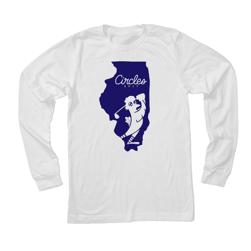 Illinois State Circles Golf Logo - Long Sleeve T-Shirt