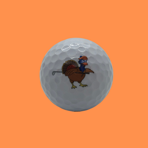 Chirps Thanksgiving Turkey Logo Golf Ball