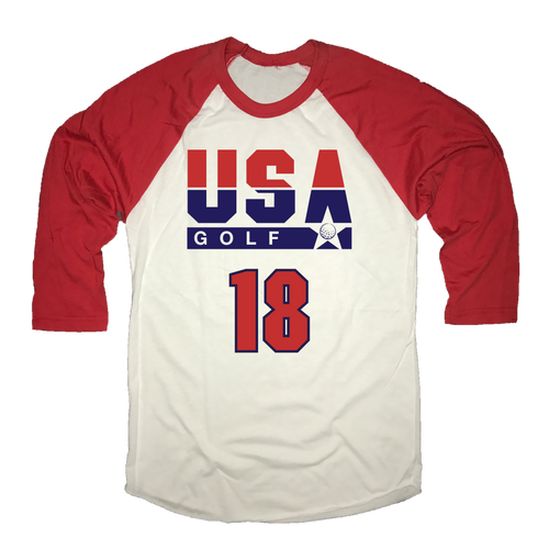 USA Golf 18 Holes - Raglan Shirt