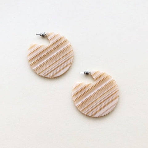 Clare Earrings Chameau Stripe