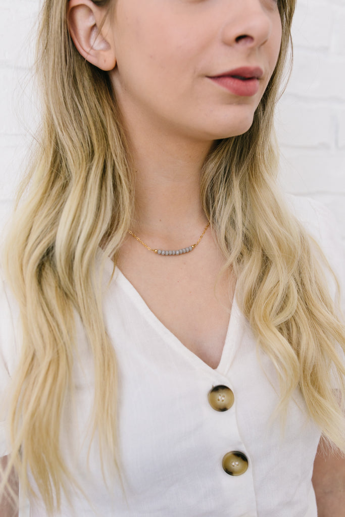 Pewter Choker Necklace
