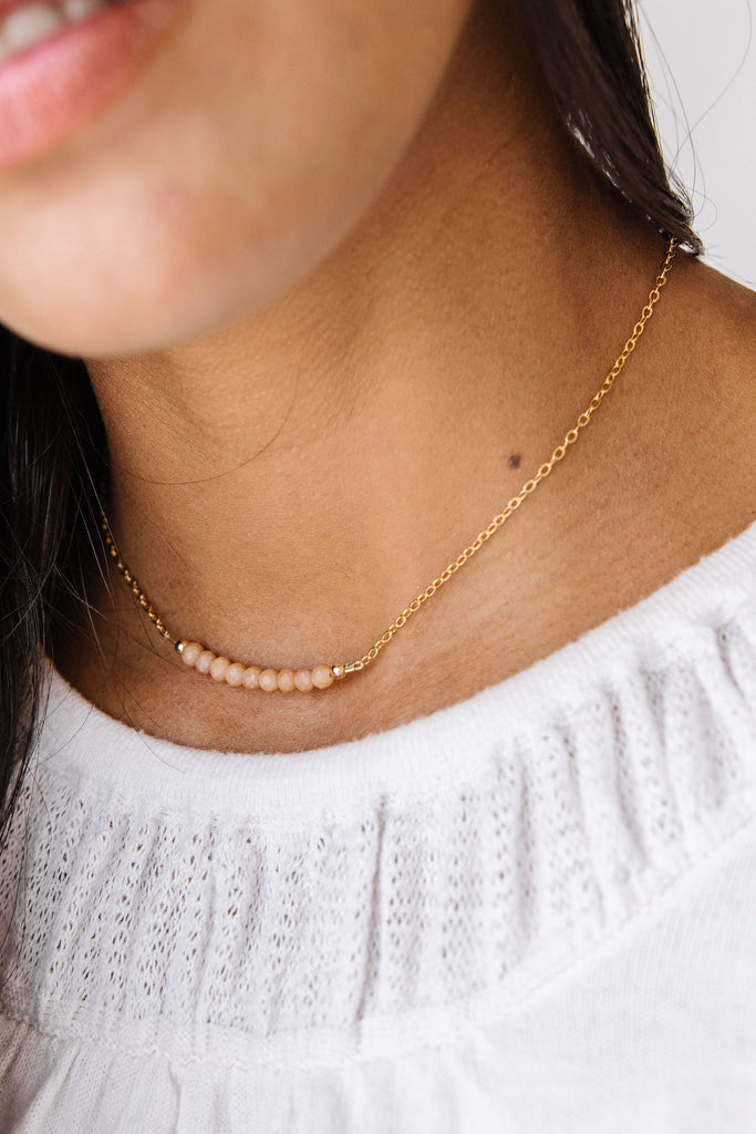 Sparrow Choker Necklace + Chain Bracelet Set (4MM beads)