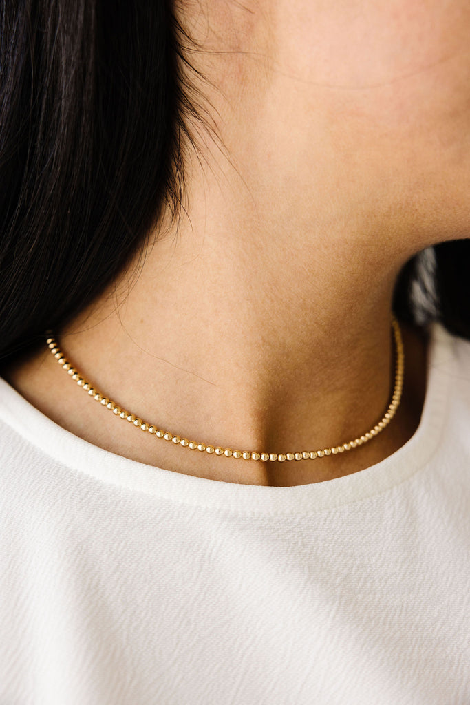 Kindness Choker Necklace (3MM Beads)