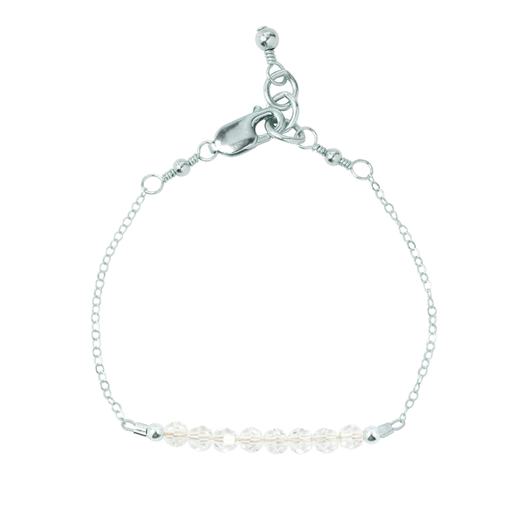 April Adult Chain Bracelet (4MM beads)
