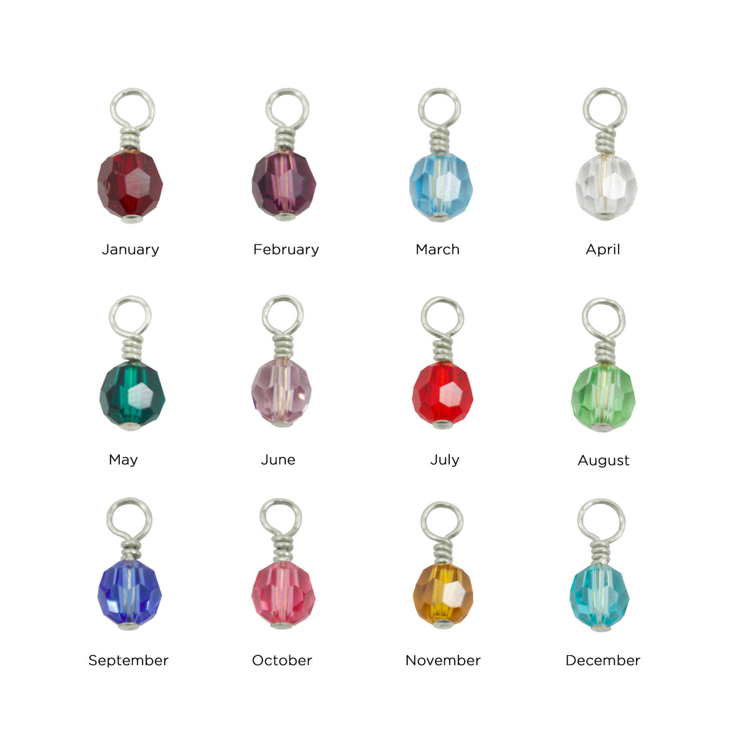 Birthstone Charms (6MM Beads)