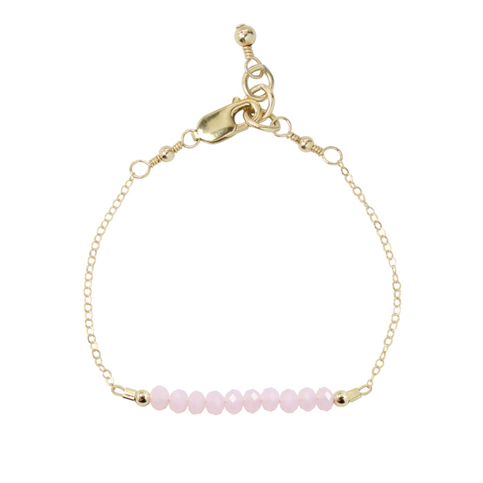 Blush Adult Chain Bracelet (4MM beads)