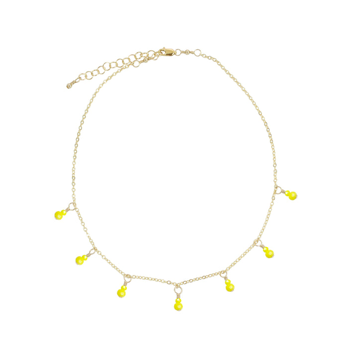 Canary Fringe Necklace