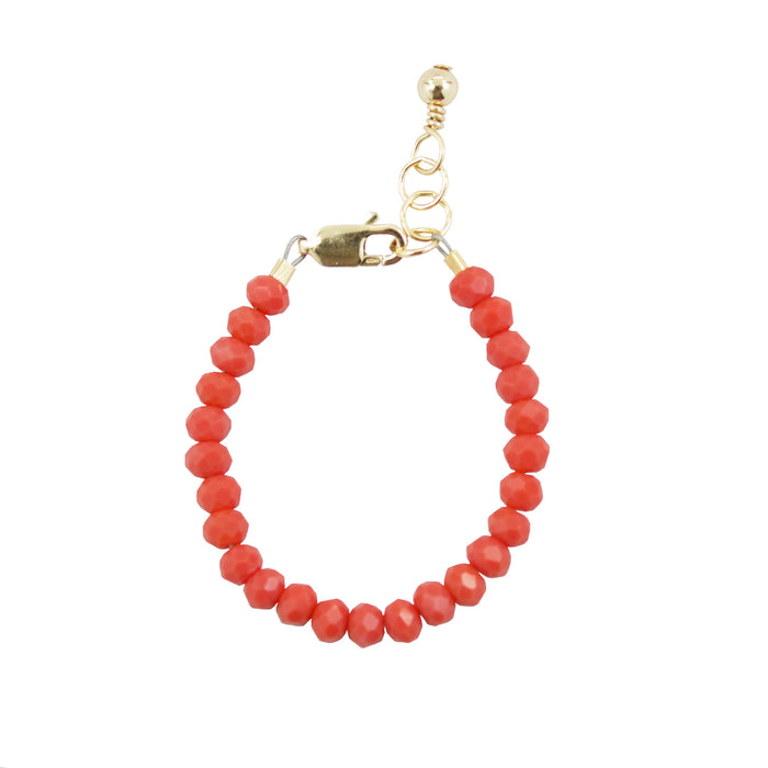 Coral Baby Bracelet (4MM beads)