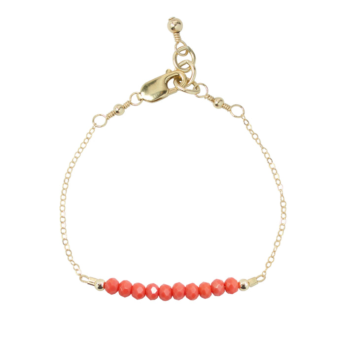 Coral Adult Chain Bracelet (4MM beads)