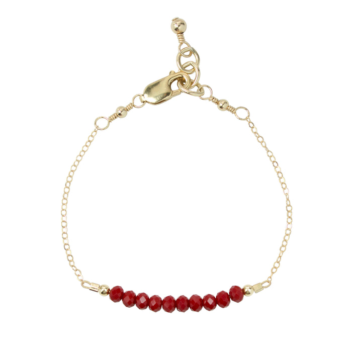 Cranberry Adult Chain Bracelet (4MM beads)