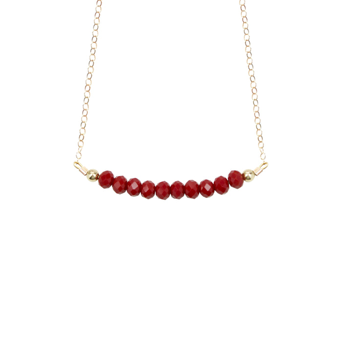 Cranberry Choker Necklace