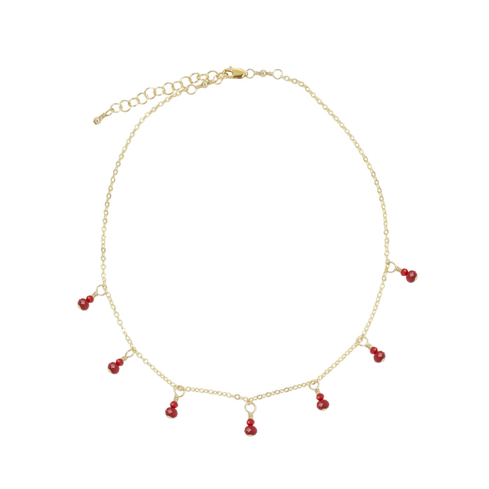 Cranberry Fringe Necklace