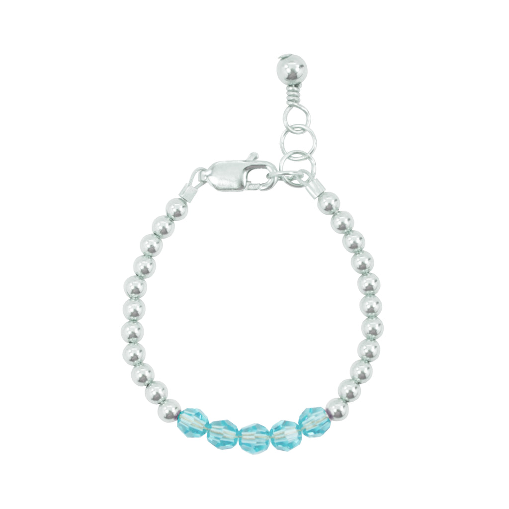 December Birthstone Baby Bracelet (4MM beads)