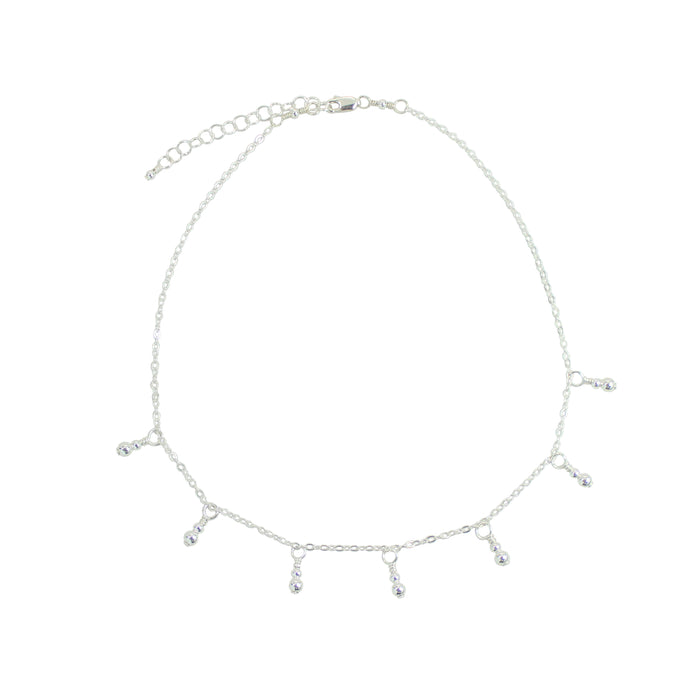 Silver {shiny} Fringe Necklace