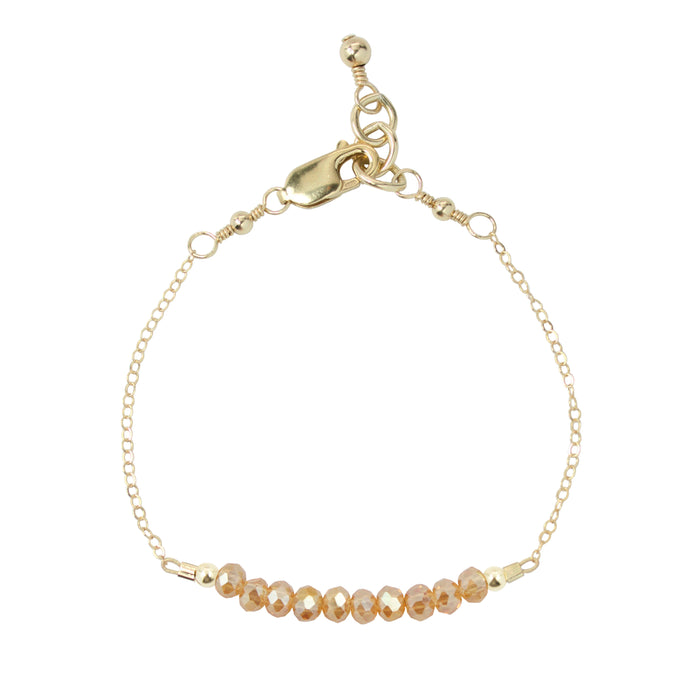 Honey Adult Chain Bracelet (4MM beads)