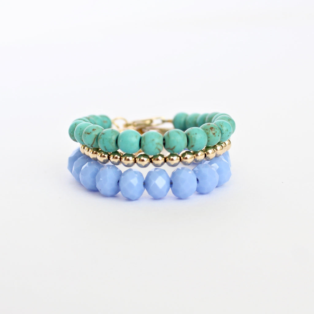 Turquoise Baby Bracelet (4MM beads)