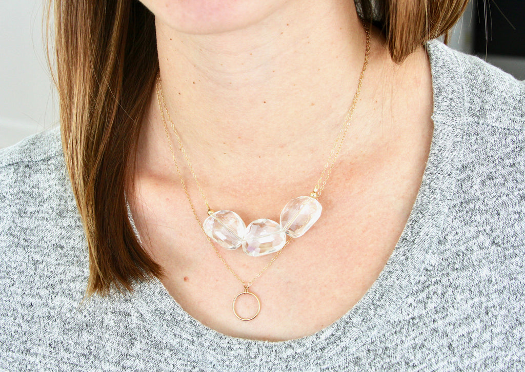 Pebble Crystal Necklace