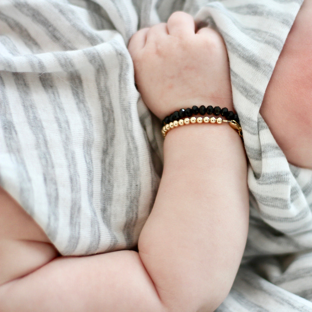 Gold {shiny} Baby Bracelet (3MM beads)