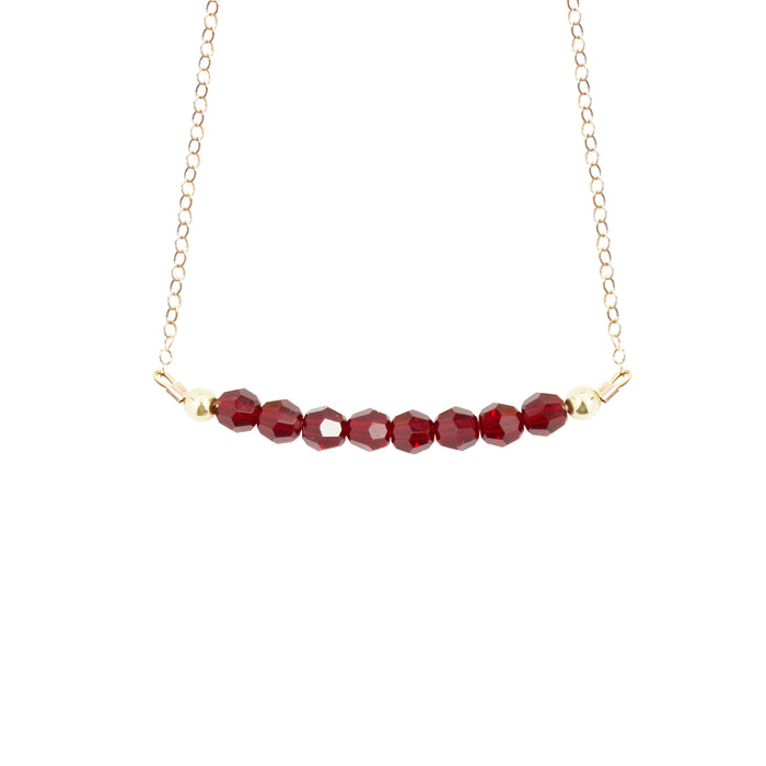 January Birthstone Choker Necklace