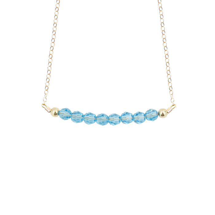 March Birthstone Choker Necklace