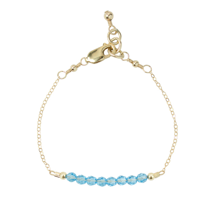 March Adult Chain Bracelet (4MM beads)